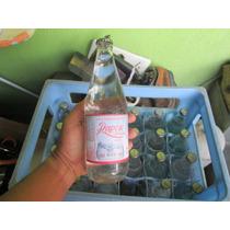 Garrafa Agua Mineral Vidro Com Propaganda De Papel Cheia