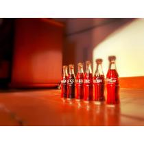Mini Garrafas De Vidro Coca-cola Antigas