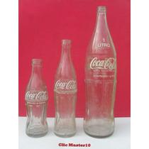 Antigas Garrafas Da Coca Cola - 185 Ml - 290 Ml - 1 Litro -