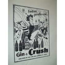 Poster Cartaz Placa Bebidas Retro Vintage Crush Bar