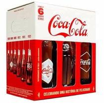Kit 6 Garrafas Históricas Coca Cola Edição Limitada 100 Anos