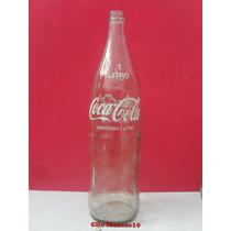 Antiga Garrafa Da Coca Cola 1 Litro - Logo Na Cor Branco