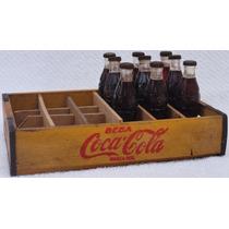Mini Coke 1954 !!! Reposição! Garrafinhas E Caixa!