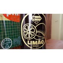 Garrafa Antiga Do Refrigerante Minuano Limão (litro)