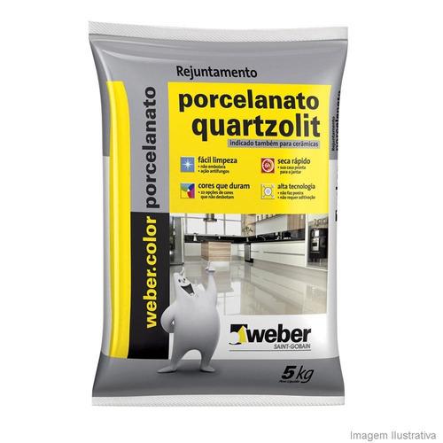 Rejunte Porcelanatos 5kgs Quarzolit Cor Corda Extraliso