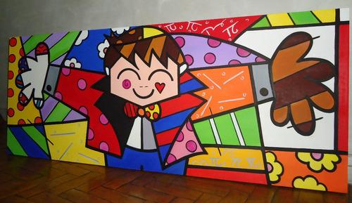 Releitura The Hug Too Tam:60x150 Painel Inclusive O Abraço