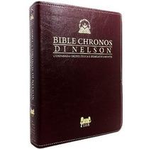 Biblia Chronos - Pr. Aldery Di Nelson - Couro Vinho S/juros