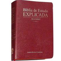 Bíblia De Estudo Explicada Harpa Dicionário E Índice Frete G