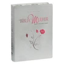 Bíblia Da Mulher Bordas Floridas Frete Grátis