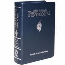 Bíblia De Estudo Pentecostal Revista Corrigida Grande Azul