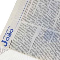 Bíblia De Estudo Ntlh Grande - Couro Azul - Nova Diagramação