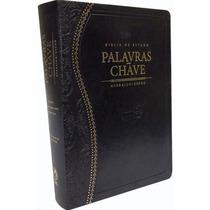 Bíblia Estudo Palavras-chave Luxo Preta-clássica Fretegrátis