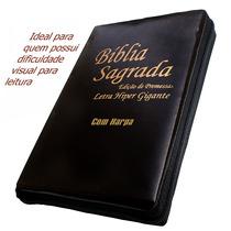 Bíblia Letra Hipergigante-c/ziper E Harpa - Frete Grátis