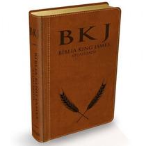 Bíblia De Estudo Versão King James Luxo Bkj Cor Marrom