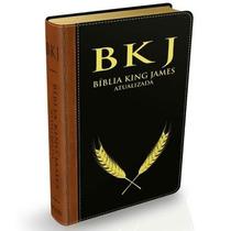 Biblia King James Atualizada Bkj - Capa Luxo Preta + Indice