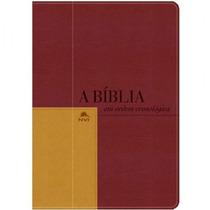 Bíblia De Estudo Cronológica - Capa Vermelha E Mostarda 12x