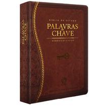 Bíblia De Estudo - Palavra Chave Luxo Marrom