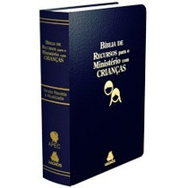 Bíblia De Recursos Para Ministério Com Crianças Luxo Azul