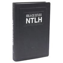 Bíblia De Estudo Ntlh Azul Tamanho Média 2 Unid Frete Gratis