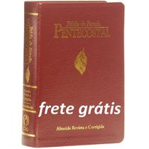 Bíblia De Estudo Pentecostal Vinho-luxo-pequena-frete Grátis