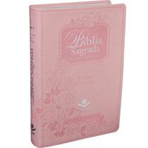 Biblia Feminina Índice Digital Letra Gigante Rosa Delicado