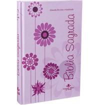 Bíblia Feminina Grande Rosa Floral Frete Grátis!