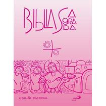 Bíblia Média Edição Pastoral, Editora Paulus - Rosa