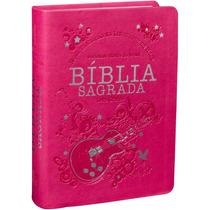 Bíblia Sagrada Ntlh Com Letra Grande Roza Promoção