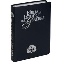 Bíblia De Estudo Genebra Grande Luxo Azul Frete Grátis