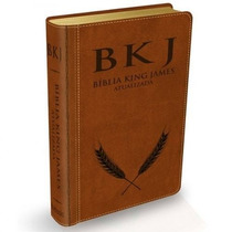 Biblia King James Atualizada Bkj - Capa Couro Luxo Marrom