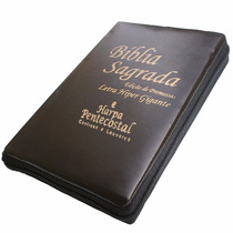 Bíblia Letra Hipergigante (evan)c/harpa E Zíper Frete Grátis