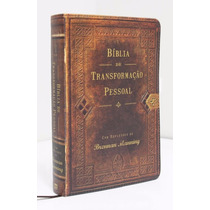 Bíblia De Estudo Transformação Pessoal Marrom Luxo Ntlh