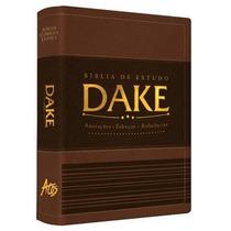 Biblia Dake 2015 C/ Dicionário - Capa Luxo Marrom E Preta
