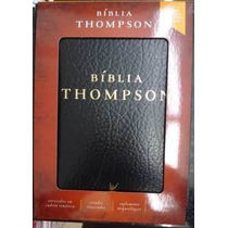 Bíblia De Estudo Thompson Couro Sintético Preta Com Índice