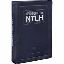 Frete Grátis Bíblia De Estudo Ntlh Média Azul Bíblia Sagrada