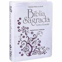 Queimão Bíblia Sagrada Ra Letra Grande - Luxo Branca (sbb)