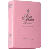 Biblia Letra Grande Com Harpa Feminina 21,5x14