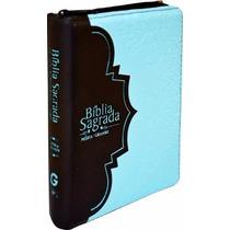 Bíblia Feminina Pequena Letra Media Grande Turquesa Preta