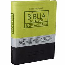 Bíblia De Estudo Esquematizada Almeida Ra Tricolor 17x23,5