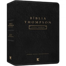 Bíblia Thompson Aec Com Letra Grande Capa Luxo Cor Preta