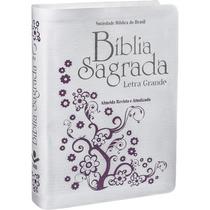 Bíblia Sagrada Ra Branca Luxo Com Letra Grande