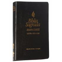 Bíblia Sagrada Preta Com Harpa Letra Grande Arc 21 X 13,5 Cm