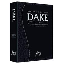 Biblia Dake 2015 C/ Dicionário - Capa Luxo Preta Trabalhada