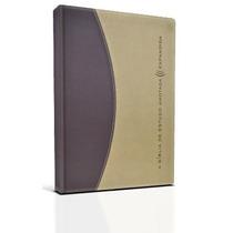 Bíblia De Estudo Anotada Expandida - Luxo Marrom E Bege