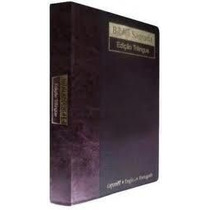 Bíblia Nvi Trilingue Inglês Português Espanhol Luxo Vinho Fo