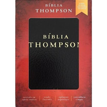 Bíblia De Estudo Thompson Capa Covertex Preta Com Índice