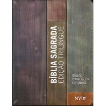 Biblia Sagrada Nvi Trilíngue - Esp/ing/port - Média Neutra