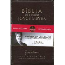 Bíblia De Estudo Joyce Meyer - Letra Grande - Luxo Café