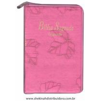 Biblia Sagrada Letra Gigante Ziper Pink Folha Com Indice Rc