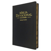 Bíblia De Estudo Devocional Almeida Corrigida Fiel Preta